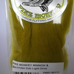 Pike Monkey Minnow & Baitfish Dub Light Olive