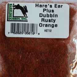 Dubbing de lièvre et antron Hareline Rusty Orange