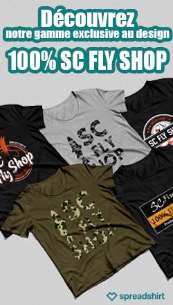 Découvrez notre gamme exclusive au design 100% SC Fly Shop